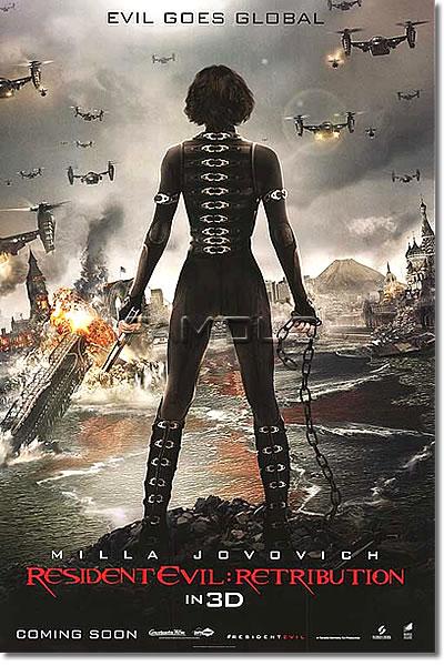 【映画ポスター】 バイオハザードV リトリビューション (RESIDENT EVIL: RETRIBUTION) ADV-両面 オリジナルポスター