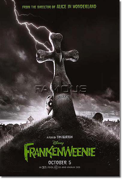 【映画ポスター】 フランケンウィニー (FRANKENWEENIE) ADV-両面 オリジナルポスター