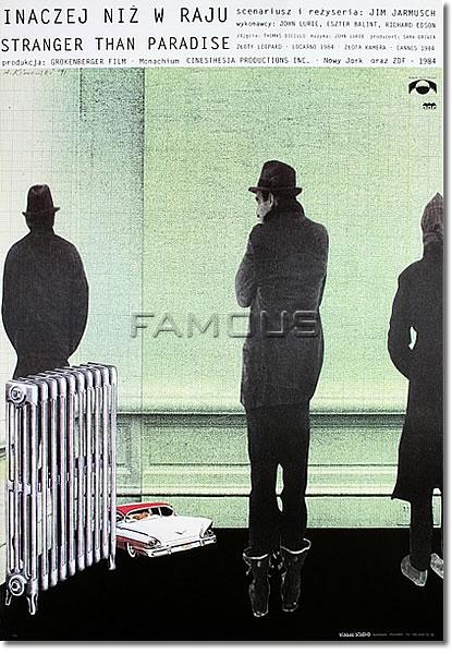 【映画ポスター】 ストレンジャーザンパラダイス Polish-SS ◆デザイン: Andrzej Klimowski オリジナルポスター
