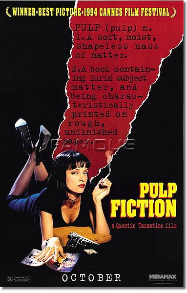 【映画ポスター】 パルプフィクション (PULP FICTION) ADV-B-SS オリジナルポスター