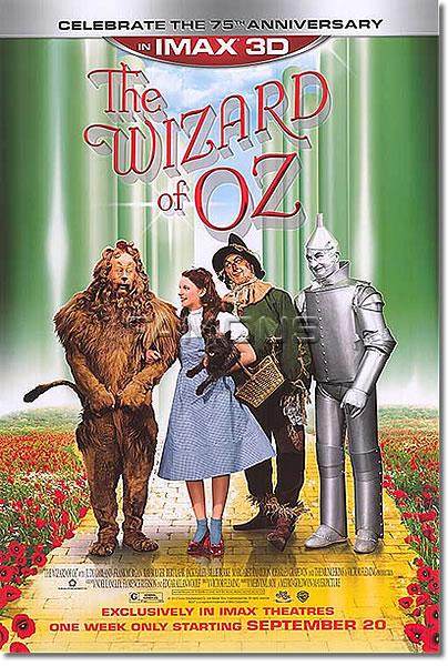 【映画ポスター】 オズの魔法使 (THE WIZARD OF OZ) 75th Anniversary re-release-両面★75周年記念★ オリジナルポスター