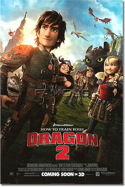 【映画ポスター】 ヒックとドラゴン2 (HOW TO TRAIN YOUR DRAGON 2) REG-両面 オリジナルポスター
