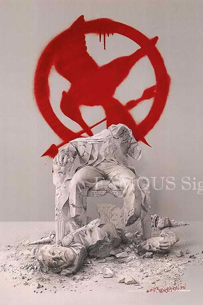 【映画ポスター】 ハンガーゲーム FINA:レボリューション (ドナルドサザーランド/The Hunger Games: Mockingjay-Part2) /statue ADV-DS オリジナルポスター