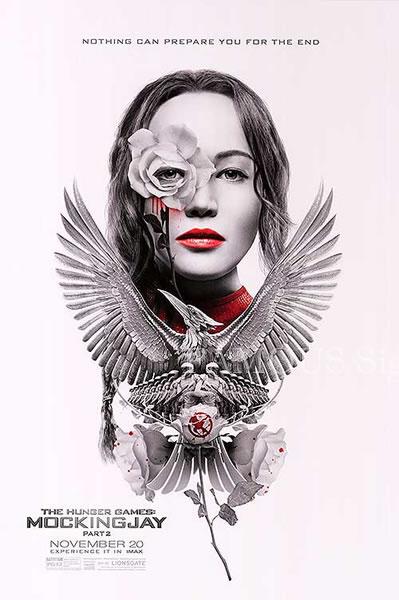 【映画ポスター】 ハンガーゲーム FINAL:レボリューション (ジェニファーローレンス/The Hunger Games: Mockingjay-Part 2) /B版 両面 オリジナルポスター
