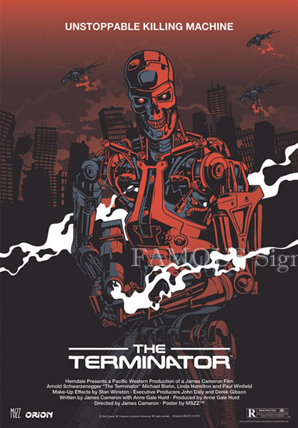 【映画ポスター】 ターミネーター (アーノルドシュワルツェネッガー/The Terminator) /ポーランド版 片面 オリジナルポスター