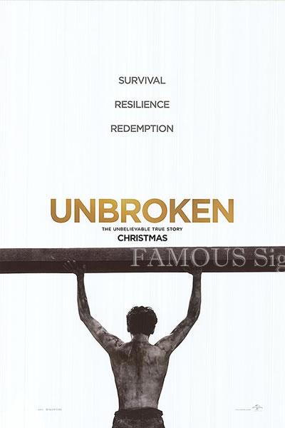 【映画ポスター】 不屈の男 アンブロークン (アンジェリーナジョリー/Unbroken) /B 両面 オリジナルポスター