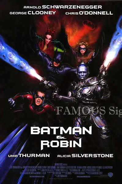 【映画ポスター】 バットマン&ロビン Mr.フリーズの逆襲 (アーノルドシュワルツェネッガー/BATMAN & ROBIN) /INT 片面 オリジナルポスター