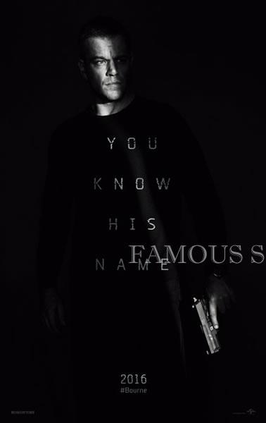 【映画ポスター】 ジェイソンボーン (マットデイモン/Jason Bourne) /ADV 両面 glossy オリジナルポスター