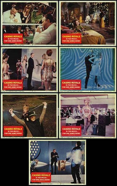 【映画スチール写真7枚セット】007 カジノロワイヤル (デヴィッドニーヴン/Casino Royale) ロビーカード/グッズ