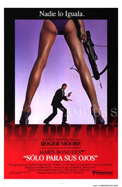 【映画ポスター】 007 ユアアイズオンリー (ジェームズボンド/For Your Eyes Only) /スペイン版 片面 オリジナルポスター