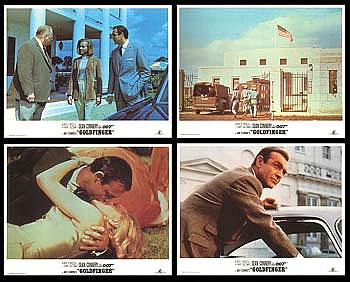 【映画スチール写真4枚セット】007 ゴールドフィンガー (ショーンコネリー/Goldfinger) ロビーカード/グッズ