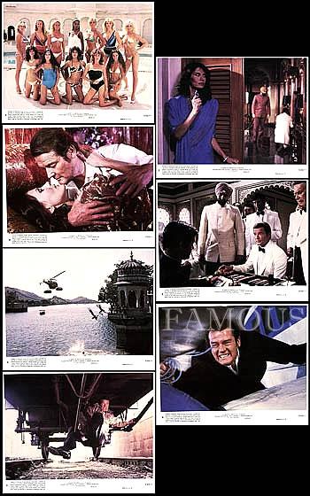 【映画スチール写真7枚セット グッズ】007 オクトパシー (ロジャームーア/ジェームズボンド/ロジャームーア/Octopussy) ロビーカード