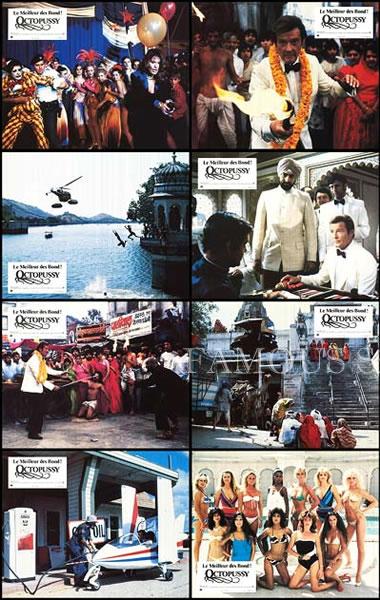 【映画スチール写真8枚セット グッズ】007 オクトパシー (ロジャームーア/ジェームズボンド/ロジャームーア/Octopussy) ロビーカード