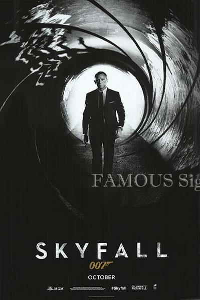 【映画ポスター】 007 スカイフォール (ダニエルクレイグ/ジェームズボンド/Skyfall) /October版 ADV 両面 オリジナルポスター