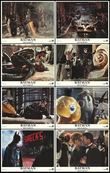 【映画スチール写真8枚セット】バットマン リターンズ (Batman Returns) グッズ/ロビーカード