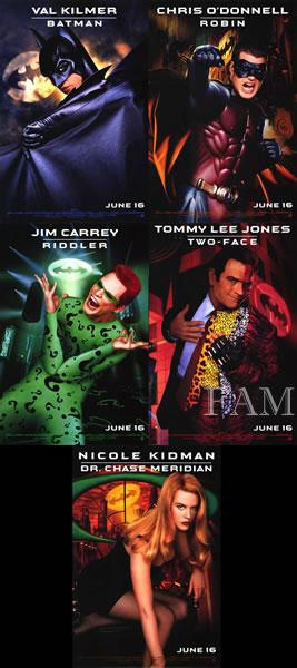 【映画ポスター5枚セット グッズ】バットマン フォーエヴァー (Batman Forever) /片面 オリジナルポスター