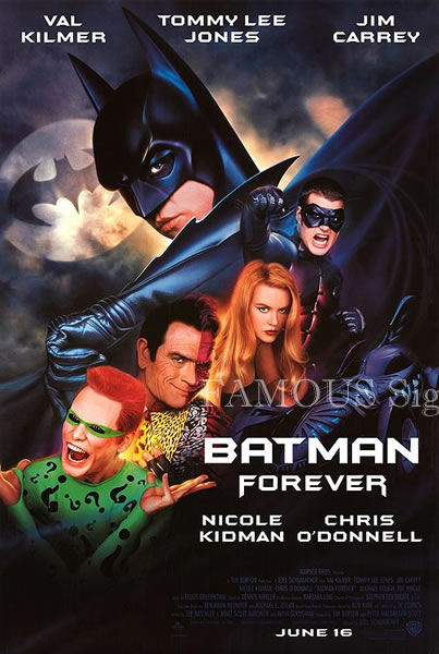 【映画ポスター】 バットマン フォーエヴァー (Batman Forever) /REG 片面 オリジナルポスター