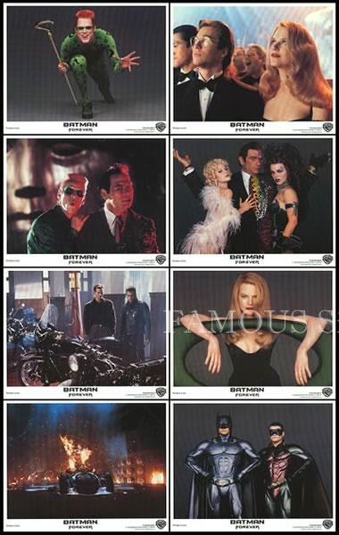 【映画スチール写真8枚セット グッズ】バットマン フォーエヴァー (Batman Forever) ロビーカード