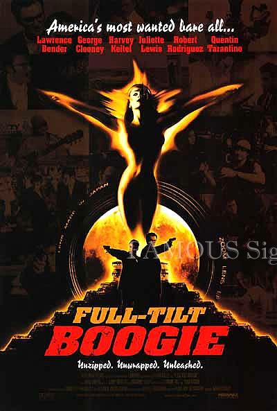 【映画ポスター】 フルティルトブギ メイキングオブフロムダスクティルドーン (Full Tilt Boogie) /両面 オリジナルポスター