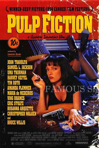 【映画ポスター】 パルプフィクション (クエンティンタランティーノ/Pulp Fiction) /REG 片面 オリジナルポスター