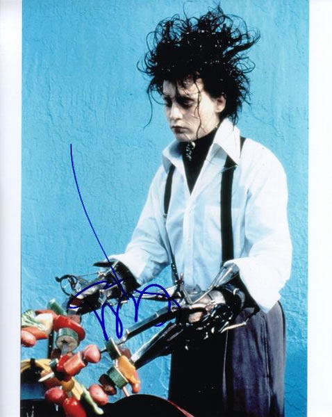 【直筆サイン入り写真】 ジョニーデップ (シザーハンズ/Johnny Depp) 映画グッズ/オートグラフ