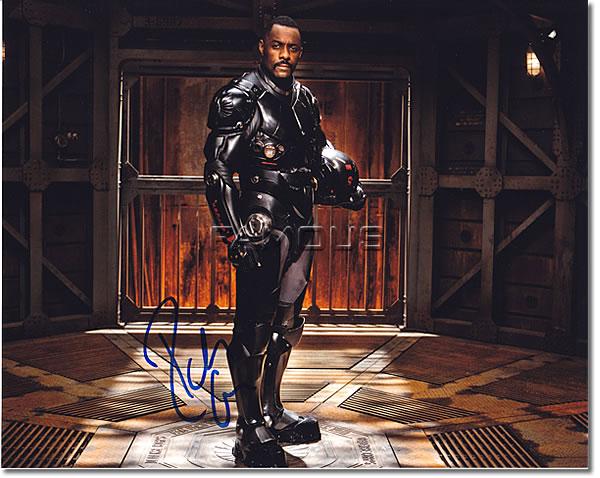 【直筆サイン入り写真】 イドリスエルバ (パシフィックリム/Idris Elba) 映画グッズ/オートグラフ
