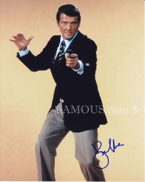 【直筆サイン入り写真】 007 ジェームズボンド ロジャームーア Roger Moore /映画 グッズ ブロマイド オートグラフ