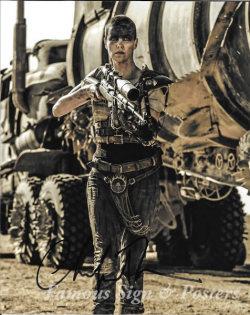 【直筆サイン入り写真】 シャーリーズセロン (マッドマックス 怒りのデスロード/Charlize Theron) 映画グッズ/オートグラフ