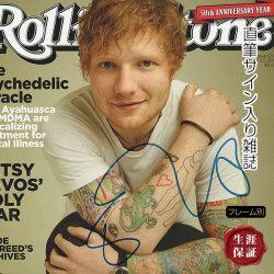 【直筆サイン入り雑誌】 パーフェクト shape of you 等 エドシーラン Ed Sheeran グッズ /ブロマイド オートグラフ /フレーム別