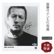 【直筆サイン入り写真】 エリッククラプトン グッズ Eric Clapton /ブロマイド オートグラフ /フレーム別 /鑑定済み