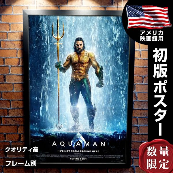 【映画ポスター】 アクアマン Aquamane グッズ ジェイソンモモア /DC アメコミ /インテリア アート 海 フレームなし /REG-両面 オリジナルポスター