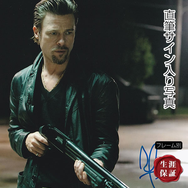 【直筆サイン入り写真】 ジャッキー・コーガン ブラッド・ピット Brad Pitt グッズ /映画 ブロマイド オートグラフ 約20×25cm /フレーム別