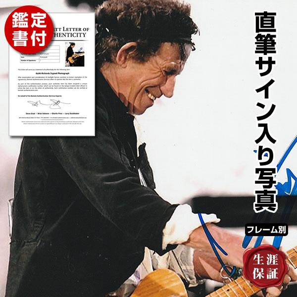 【直筆サイン入り写真】 ローリングストーンズ グッズ キースリチャーズ オートグラフ フレーム別 Keith Richards The Rolling Stones