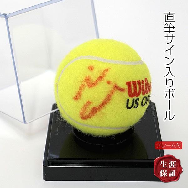 【直筆サイン入りUS OPENテニスボール】 大坂 なおみ /オートグラフ /フレーム付