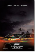 【映画ポスター】 ワイルドスピード MEGA MAX (FAST FIVE) 両面 オリジナルポスター
