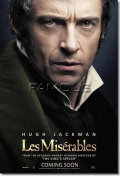 【映画ポスター】 レミゼラブル (ヒュージャックマン/LES MISERABLES) Hugh Jackman ADV-両面 オリジナルポスター