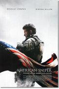 【訳あり】【映画ポスター】 アメリカンスナイパー (ブラッドリークーパー/AMERICAN SNIPER) /両面 オリジナルポスター