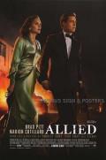 【映画ポスター】 マリアンヌ Allied ブラッド・ピット /インテリア おしゃれ フレームなし /REG-B-両面 [オリジナルポスター]