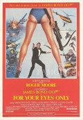 ★歳末10%OFFセール★ 【映画ポスター】 007 ユアアイズオンリー (ジェームズボンド/For Your Eyes Only) /南アフリカ版 片面 オリジナルポスター