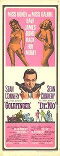 【映画ポスター】 007 ゴールドフィンガー 007 ドクターノオ (ジェームズボンド/ショーンコネリー/Goldfinger/Dr. No) /片面 オリジナルポスター