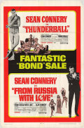 【映画ポスター】 007 サンダーボール作戦 007 ロシアより愛をこめて (ジェームズボンド/ショーンコネリー/Thunderball/007 From Russia with Love) /片面 オリジナルポスター