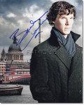 【直筆サイン入り写真】 ベネディクトカンバーバッチ (SHERLOCK/シャーロック/Benedict Cumberbatch/ホームズ役) 映画グッズ/オートグラフ
