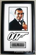 【額装付き】【直筆サイン入り写真】ショーン・コネリー (007/ジェームズ・ボンド役/Sean Connery) [映画グッズ/オートグラフ]