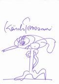 【直筆サイン入りカード】田名網 敬一 (Keiichi Tanaami アート グッズ) [オートグラフ]