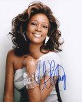 【直筆サイン入り写真】 ホイットニーヒューストン (ボディガード 等/Whitney Houston) グッズ/オートグラフ