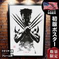 【映画ポスター】 ウルヴァリン:SAMURAI X-MEN グッズ フレーム別 おしゃれ デザイン モノクロ 墨 /ADV-片面 オリジナルポスター