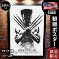【映画ポスター】 ウルヴァリン:SAMURAI X-MEN グッズ フレーム別 おしゃれ デザイン モノクロ 墨 The Wolverine /REG-両面 オリジナルポスター