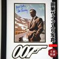 【直筆サイン入り写真】 007 ジェームズボンド グッズ ショーン・コネリー Sean Connery /ボンドカー 映画 約35.9×56.2cm オートグラフ /フレーム付き