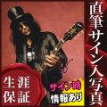 【直筆サイン入り写真】 ガンズ・アンド・ローゼズ Guns N' Roses ギタリスト スラッシュ Slash /シルクハット /ブロマイド [オートグラフ]