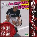 【直筆サイン入り写真】 錦織 圭 /テニス ラケットを持った写真 /ブロマイド Ace AUTHENTIC オートグラフ